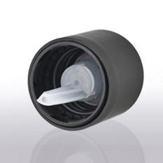 Kindergesicherter Schraubverschluss mit Senkrechttropfer Ø 1,0 mm,